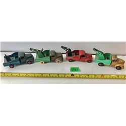 GR OF 4 DINKY SERVICE WRECKERS