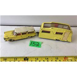 DINKY TOYS DIE-CAST CAR & CAMPER