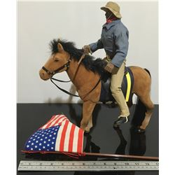 'SOLDIERS OF THE WORLD' - US CIVIL WAR SCOUT RIDER ON HORSEBACK
