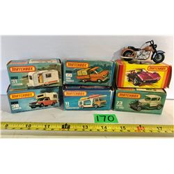 GR OF 6 LESNEY PRODUCTS MATCHBOX 75 SERIES