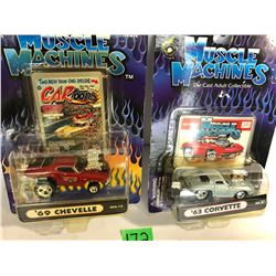 GR OF 2 MUSCLE MACHINES IN ORIGINAL BUBBLE PACK