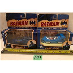 GR OF 2, CORGI BATMAN DIE CAST CARS