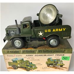 TOMY-MATIC BATTERY POWERED US ARMY TRUCK