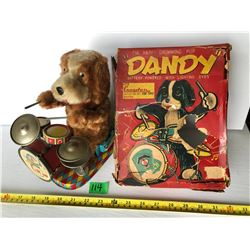 CRAGSTON FOR TOYS - DANDY BATTERY POWERED DRUMMING PUP
