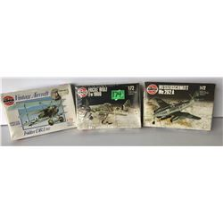 GR OF 3 AIRFIX VINTAGE AIRCRAFT 1:72 MODEL PLANES