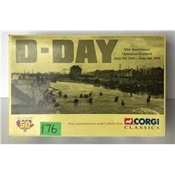 CORGI D-DAY COMMEMORATIVE 4 VEHICLE SET