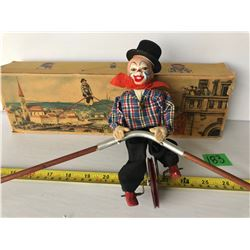 ANTIQUE WEST GERMAN MADE TIGHT-ROPE CLOWN