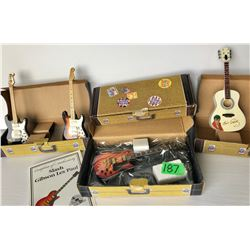 GR OF 4 SCALE MODEL COLLECTOR GUITARS