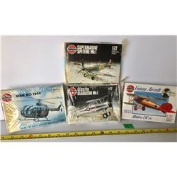 GR OF 4 AIRFIX 1:72 SCALE MODEL AIRCRAFT