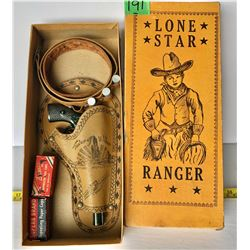 LONE STAR RANGER CAP GUN WITH HOLSTER, BELT, CAPS