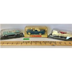 GR OF 3, SCALE MODEL CARS