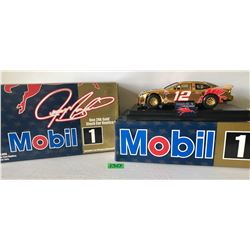 GR OF 2, MOBIL 24k GOLD #12 RACE CAR REPLICAS