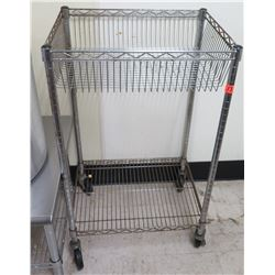 "Rolling 2 Tier Wire Cart 24""W x 18"" D x 40""H"