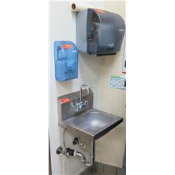 Wall Mount Sink, En-Motion Soap & Marathon Paper Towel Dispenser