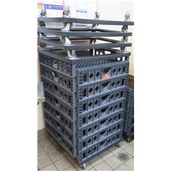 Multiple Rolling Gray Heavy Duty Plastic Dolly Carts