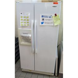 "Whirlpool Side-by-Side Refrigerator Freezer Model ED5L HAXW002 (36""W x 30""D x 69""H)"