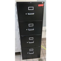 "HON 4-Drawer Metal Filing Cabinet 18""W x 26.5""D x 52""H"