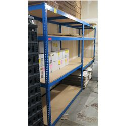 "Blue Metal 3-Tier Adjustable Shelving Unit 69"" W x 84"" H x 30"" D (contents not included)"