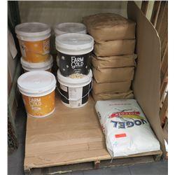 Multiple Farm Gold Containers Popcorn Seasoning, Vogel Popcorn, etc