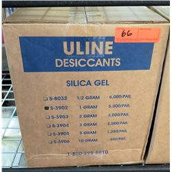 Box Uline Silica Gel Desiccants Moisture Absorbent Packets S-3903