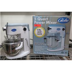 Globe 5 Quart Power Mixer Model SP5 w/ Attachments & Box