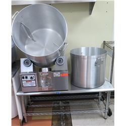 Gold Medal Cheese Corn Tumbler Machine Model 2703-00-333 (Includes Stand and Extra Pot)