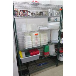 """NSF 5-Tier Adjustable Shelving Unit (contents not included) 47""""W x 24""""D x 75""""H"""