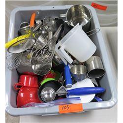 Bin Misc Utensils: Whisks, Measuring Cups, Ice Cream Scoops, Spoons etc