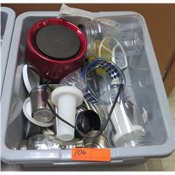 Bin Misc Utensils: Nutra Ninja Mixer Attachments, Measuring Cups, etc