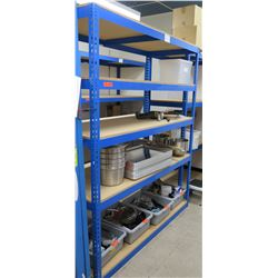 "Blue Metal 4-Tier Adjustable Shelving Unit (contents not included) 69""W x 30""D x 84""H"