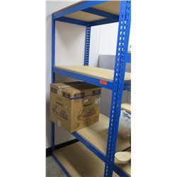 Blue Metal & Pressboard 3 Tier Adjustable Shelf Unit (Shelf Only)