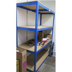 "Blue Metal Adjustable Shelving Unit (contents not included) 69""W x 30""D x 84""H"