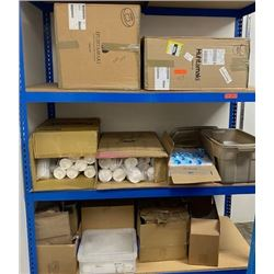 Boxes of Consumable Foodservice Paper Products: Cups, Lids, Paper Bags, Plastic Ice Bags etc