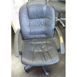 Leather-Like Rolling Executive Office Arm Chair