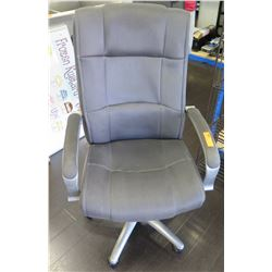 Gray Fabric Rolling Executive Office Arm Chair