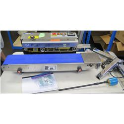 Continuous Horizontal Band Sealer CBS-880e & Conveying Table