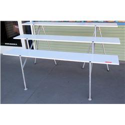 White 3 Tier 6 Leg Display Shelf