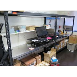 "Whalen Black Metal Adjustable Shelving Unit w/ Work Space (Shelving Only) 151""W x 24""D x 72""H"