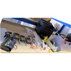 Die Hard Power Inverter, 4 Clamps, Surge Protectors, Mugs, Misc Office Supplies