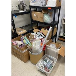 Large Lot of Gift Boxes, Ribbons, Decorative Fill & Accents, Cellophane Wrapping Materials, etc