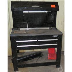 Kobalt Steel Black Tool Box Workstation w/ Pegboard Storage & Light