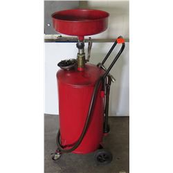 30 Gal Pressurized Oil Drain Container w/ Casters & Drain