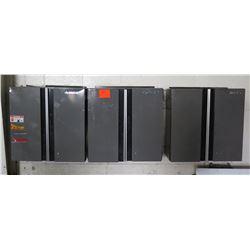 Qty 3 Husky Wall Mounted 2 Door Storage Cabinets w/ 2 Inside Shelves