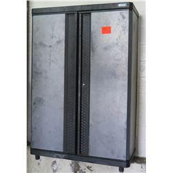 Kobalt Wall Mounted 2 Door Storage Cabinet w/ 4 Inside Shelves