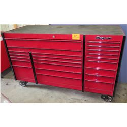 Snap On Tools Rolling Red Metal Multi Drawer Tool Box Cabinet