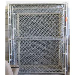 Qty 6 Chain Link Fence Panels Unassembled (Has Gate)