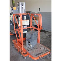 JLG Industries Personal Lift Push Around Stock Picker 500# Capacity Model 12SP (untested, needs repa