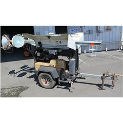 Allmand Night Lite Pro II Mobile Light Tower Engine, Mast & Lights Model SHO-HD (untested, missing l