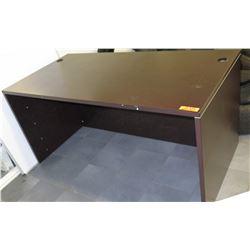 Wooden Desk w/ Cable Grommet Holes