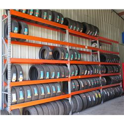 Qty 4 Orange Adjustable Warehouse Pallet / Tire Racks (available for pick-up Wednesday)